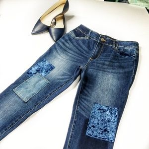 CHICO'S ▪ Platinum Jegging w/ patches, Like New